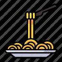 spaghetti, pasta, food, italian, dinner, lunch, restaurant