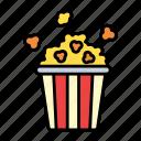 popcorn, snack, corn, cinema, delicious, entertainment, bucket