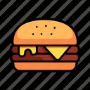 meat, beef, bun, hamburger, burger, cheeseburger, cheese