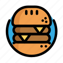 burger, fast, fast food, food, hamburger, meat, restaurant icon