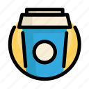 coffee, drink, fast, fast food, food, restaurant, soda icon