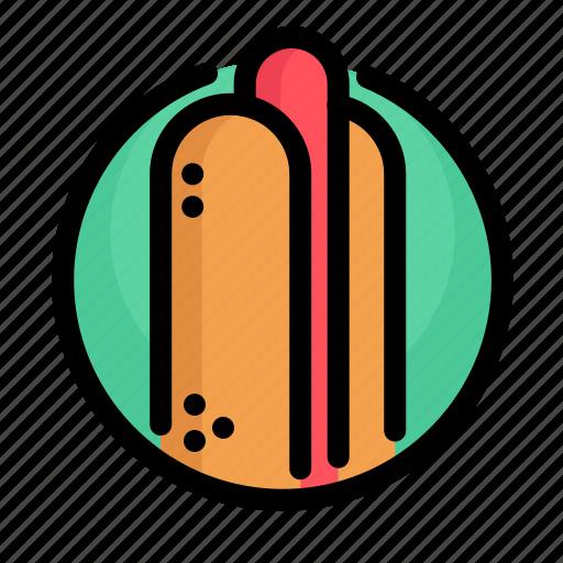 fast, fast food, food, hot dog, restaurant, sausage icon