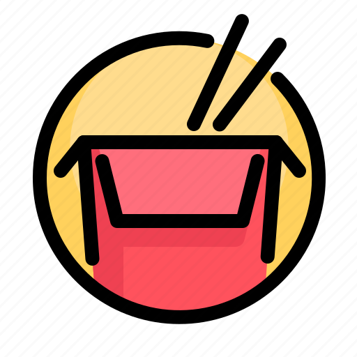 box, fast, fast food, food, pasta, restaurant, rice icon