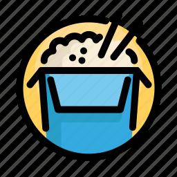 box, fast, fast food, food, restaurant, rice icon