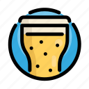 beer, drink, fast, fast food, food, glass, restaurant icon
