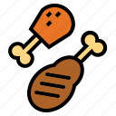chicken, chicken leg, fast food, roast, turkey leg icon