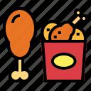 chicken, fast food, fried chicken, junk food icon