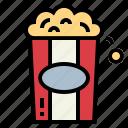 cinema, fast food, food, popcorn, snack icon