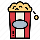 cinema, popcorn icon