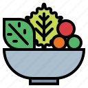 food, healthy, organic, salad, vegan, vegetables, vegetarian icon