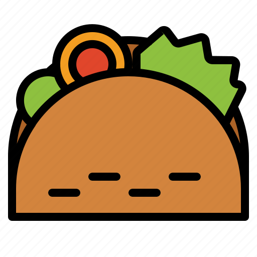 fast food, mexican, taco icon