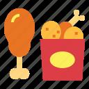 chicken, fast food, fried, fried chicken, junk food icon