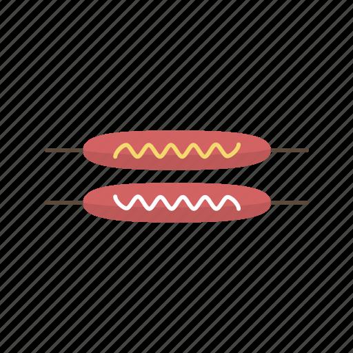 dinner, eating, fast food, food, frankfurters, snack, street food icon