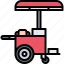 cart, catering, dog, fast, food, hot, public
