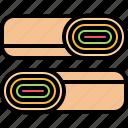 burrito, catering, fast, food, public, roll, shawarma icon