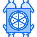 box, catering, fast, food, hand, pizza, public icon