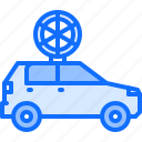 car, catering, fast, food, pizza, public icon