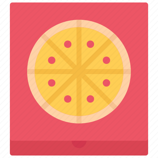 box, catering, fast, food, pizza, public icon