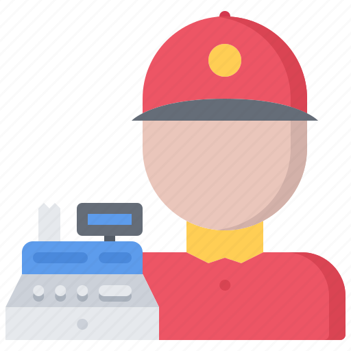 cashbox, cashier, catering, fast, food, public icon