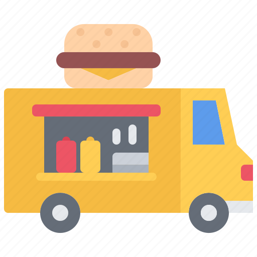 burger, catering, fast, food, public, truck icon