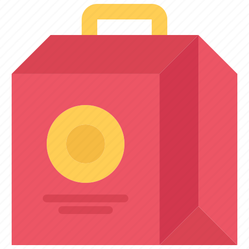 bag, box, catering, fast, food, public icon