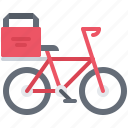 bag, bicycle, catering, fast, food, public, thermo icon