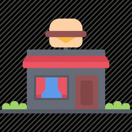 burger, catering, fast, food, public, restaurant icon