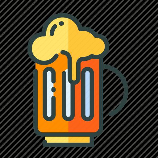 beer, beverage, food, restaurant, unhealthy icon