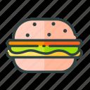 beverage, burger, food, restaurant, unhealthy icon