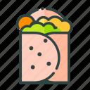 beverage, burrito, food, restaurant, unhealthy icon
