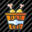 beverage, bucket, chicken, food, restaurant, unhealthy icon