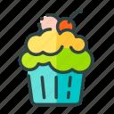 beverage, cupcakes, food, restaurant, unhealthy icon