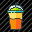 beverage, food, frappe, restaurant, unhealthy icon