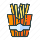 beverage, food, french, fries, restaurant, unhealthy icon