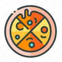 beverage, food, pizza, restaurant, unhealthy icon
