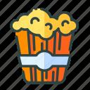 beverage, food, popcorn, restaurant, unhealthy icon