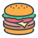 burger, cheeseburger, fast, food, hamburger, meal, street