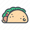 food, burito, tacos, street, fast, taco, meal icon