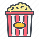 busket, cinema, corn, fast, food, movie, popcorn icon