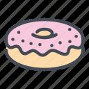 dessert, donut, fast, food, sweet