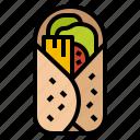 burrito, food, menu, mexican, restaurant icon