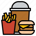 fast, food, junk, restaurant icon