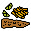 chip, fast, fish, food, fries icon