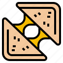 bread, cheese, grilled, sandwich icon
