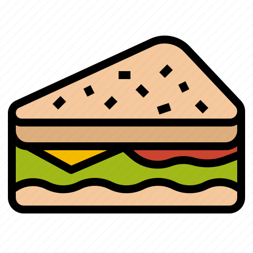 food, lunch, meal, sandwich, snack icon