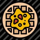 dessert, food, restaurant, waffle icon