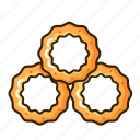 food, onion, ring, snack icon