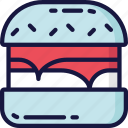 burger, eating, fast food, lettuce, takeaway icon