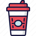 coffee, cup, drinks, fast food, take away icon
