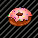 bakery, breakfast, cake, chocolate, donuts, strawberry, sweet icon
